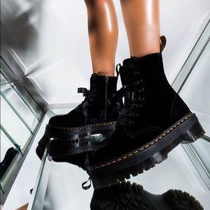 Dr. Martens Jadon Velvet Boots US6